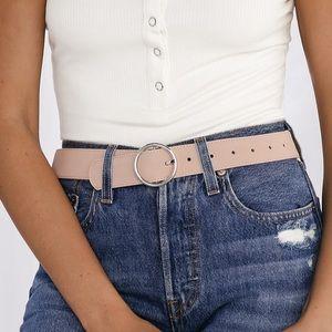 Lulu's Blush Suede Vegan Leather XS
